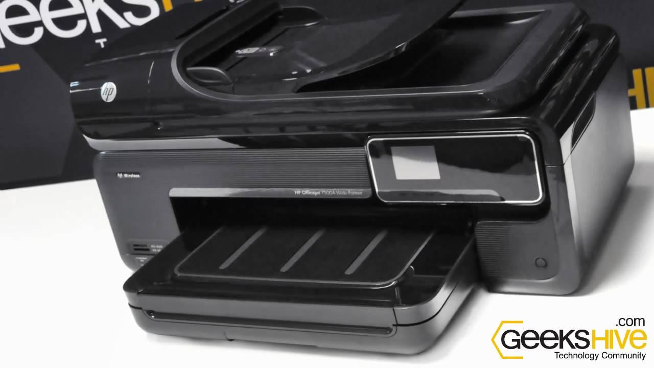 Impresora Hp Officejet 7500a E All In One De Carro Ancho Review By Www Geekshive Español You