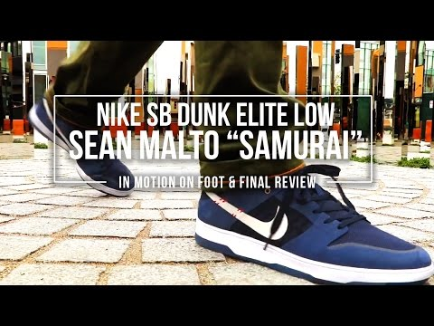 Nike SB Dunk Low Elite 'Sean Malto' Samurai In-Motion On Foot And Final Review