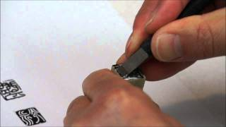 How to Carve Chinese Name Seal on Two Separate Stones and Stamp together w/ Angle Ruler(1/2)