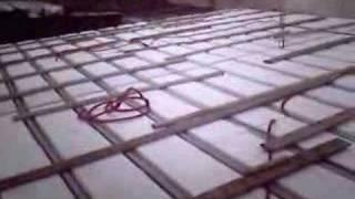 Techo de telgopor antes del hormigonado