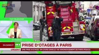 PRISE D'OTAGES RUE DES PETITES ÉCURIES À PARIS - YVES LEFEBVRE SUR RT FRANCE