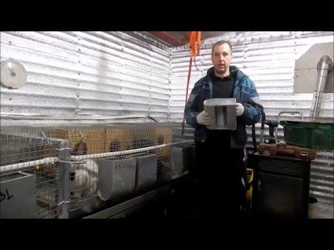 Изготовление бункерной кормушки для кроликов (для чайников)