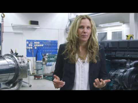Volvo Penta Stage V demo with lead engineer Stina Eriksson