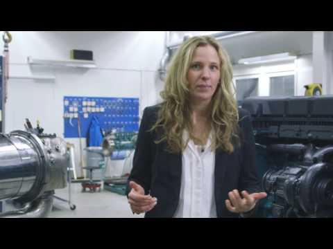 Volvo Penta Stage V demo with lead engineer Stina Eriksson