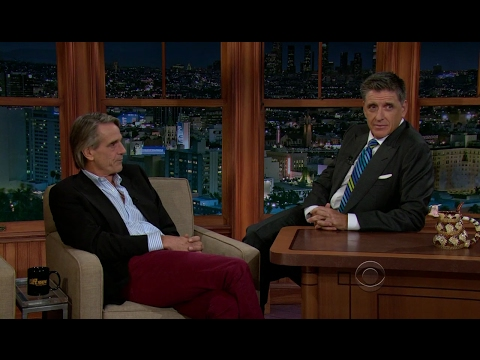 Late Late Show with Craig Ferguson 9/5/2012 Jeremy Irons, Monica Potter