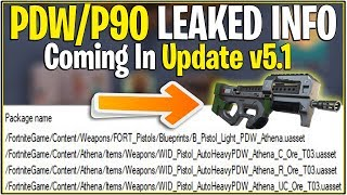 *NEW* Fortnite: LEAKED PDW/P90 COMING TUESDAY! *New Weapon* | (v5.1 Update Coming)