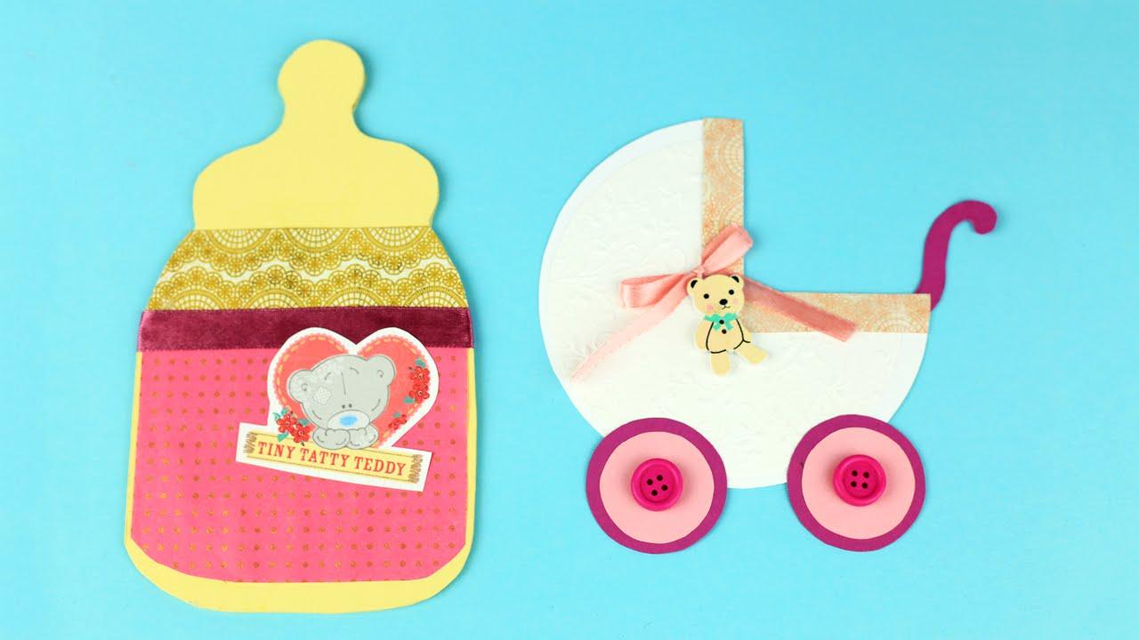 Открытка с новорожденной девочкой - С Днем Рождения
