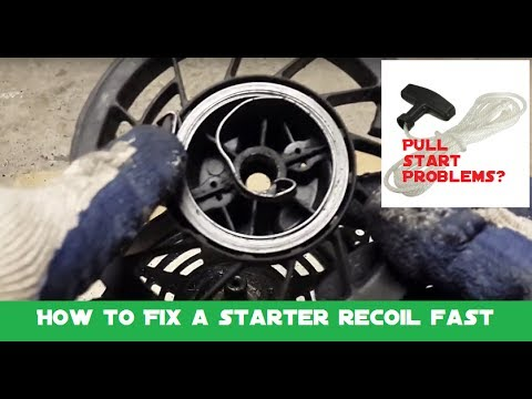How To Fix A Pull Starter Recoil Spring And Replace A