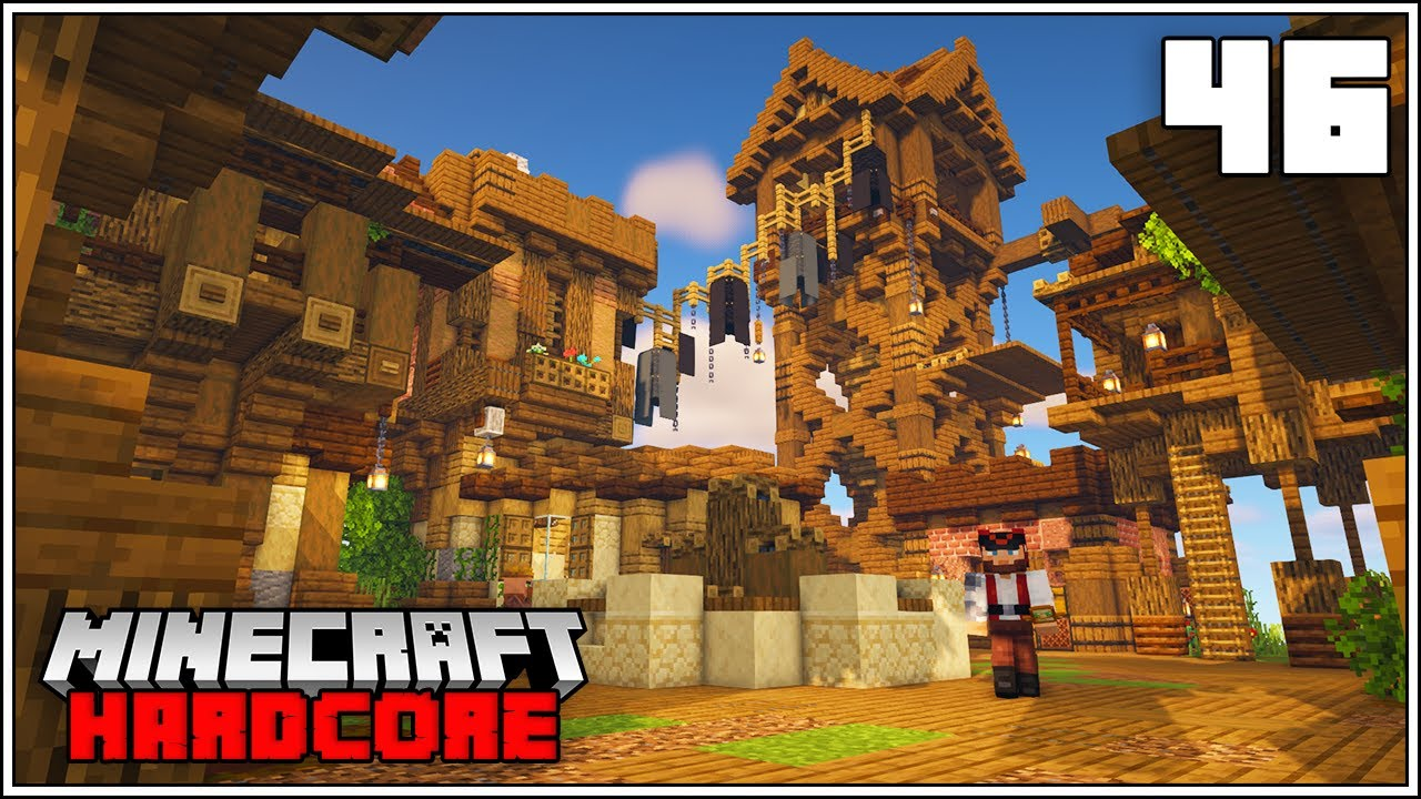 Minecraft Hardcore Let's Play - HUGE PIRATE ISLAND EXPANSION!!!