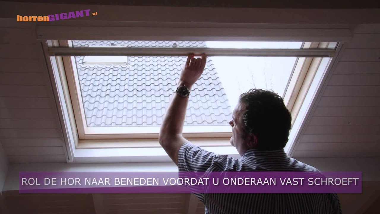 Rolgordijn Dakraam Velux Rolhor Deluxe - Horrengigant - Youtube