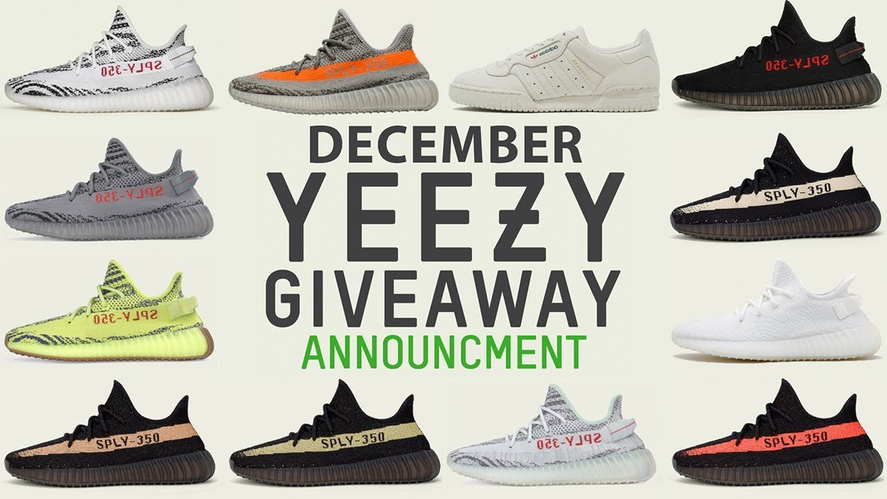 e4b8b02b4 Free Yeezy Giveaway - December Announcement - YouTube