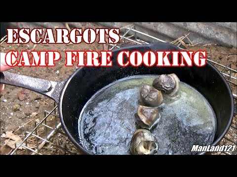 Escargots 'Snails In A Can' Camp Fire Cooking