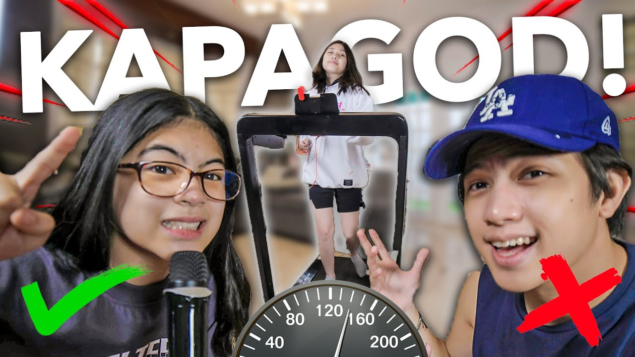 Last To Survive The TREADMILL Wins CASH Prize!! (Grabe To haha!) | Ranz and Niana