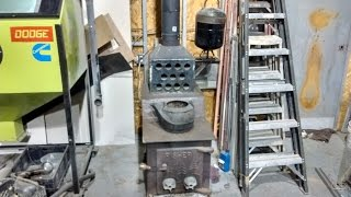 Wood And Waste (used) Oil Combo Shop Heater