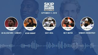 UNDISPUTED Audio Podcast (9.11.19) with Skip Bayless, Shannon Sharpe & Jenny Taft | UNDISPUTED