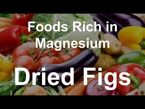 Foods Rich In Magnesium Dried Figs