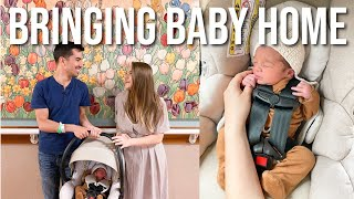 FIRST 24 HOURS WITH A NEWBORN AT HOME | Bringing Baby Home Vlog