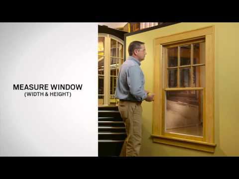 Window Measurement for Andersen 100 Series Single-Hung Window Replacement