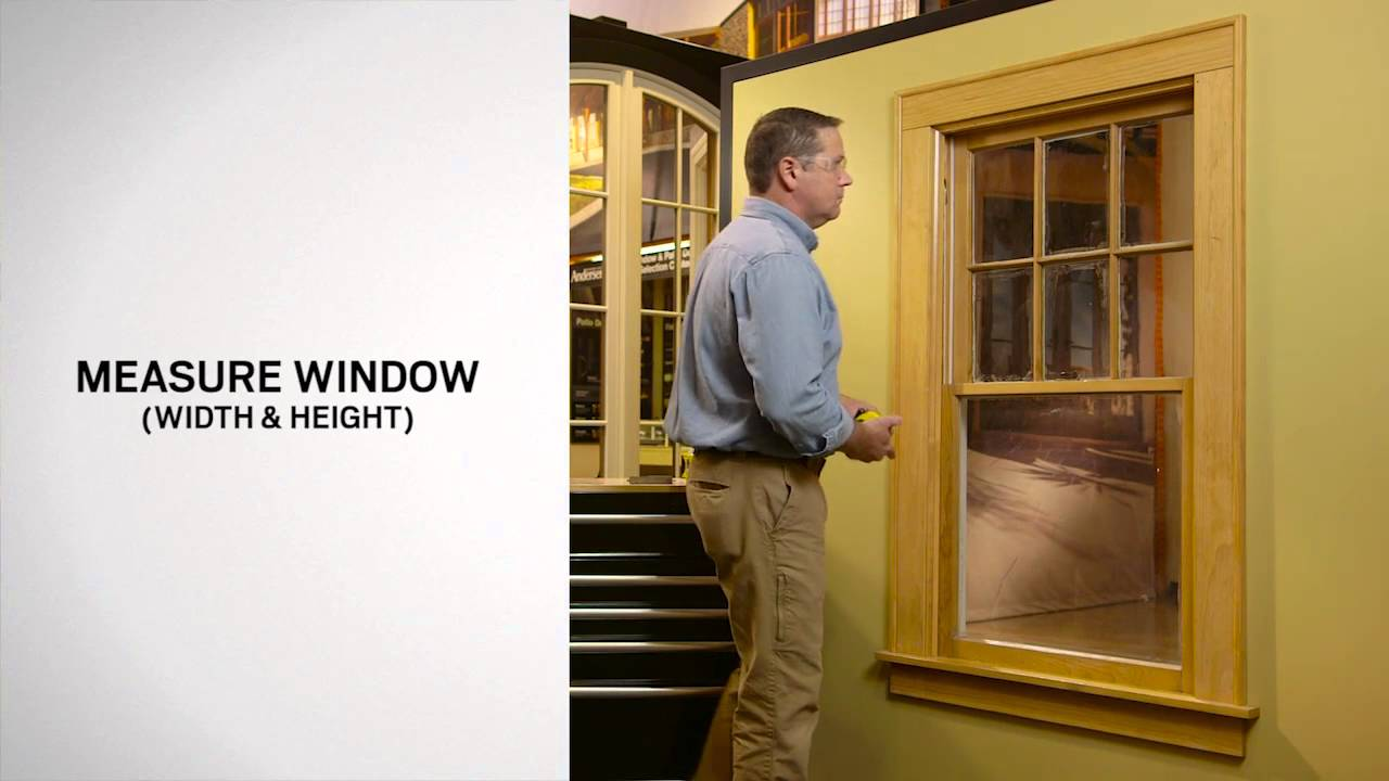 Anderson Replacement Windows >> Window Measurement for Andersen 100 Series Single-Hung Window Replacement - YouTube