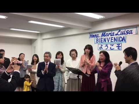 Visita de la hermana María Luisa Piraquive a  Tokyo - Japón