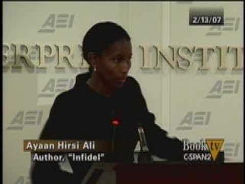 Christopher Hitchens asks a question of Ayaan Hirsi Ali