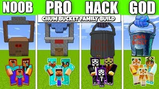 Minecraft Battle  CHUM BUCKET FAM LY CRAFT NG CHALLENGE   NOOB Vs PRO Vs HACKER Minecraft Animation