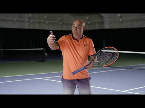 Elevate Your Tennis Game: Learn from Champion Andre Agassi : Backhand Body Position