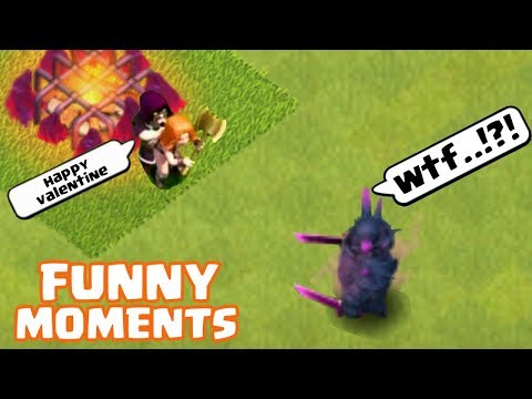 Ultimate Clash of Clans Funny Moments   COC Glitches,Fails, and Trolls Montage   Valentine Special  