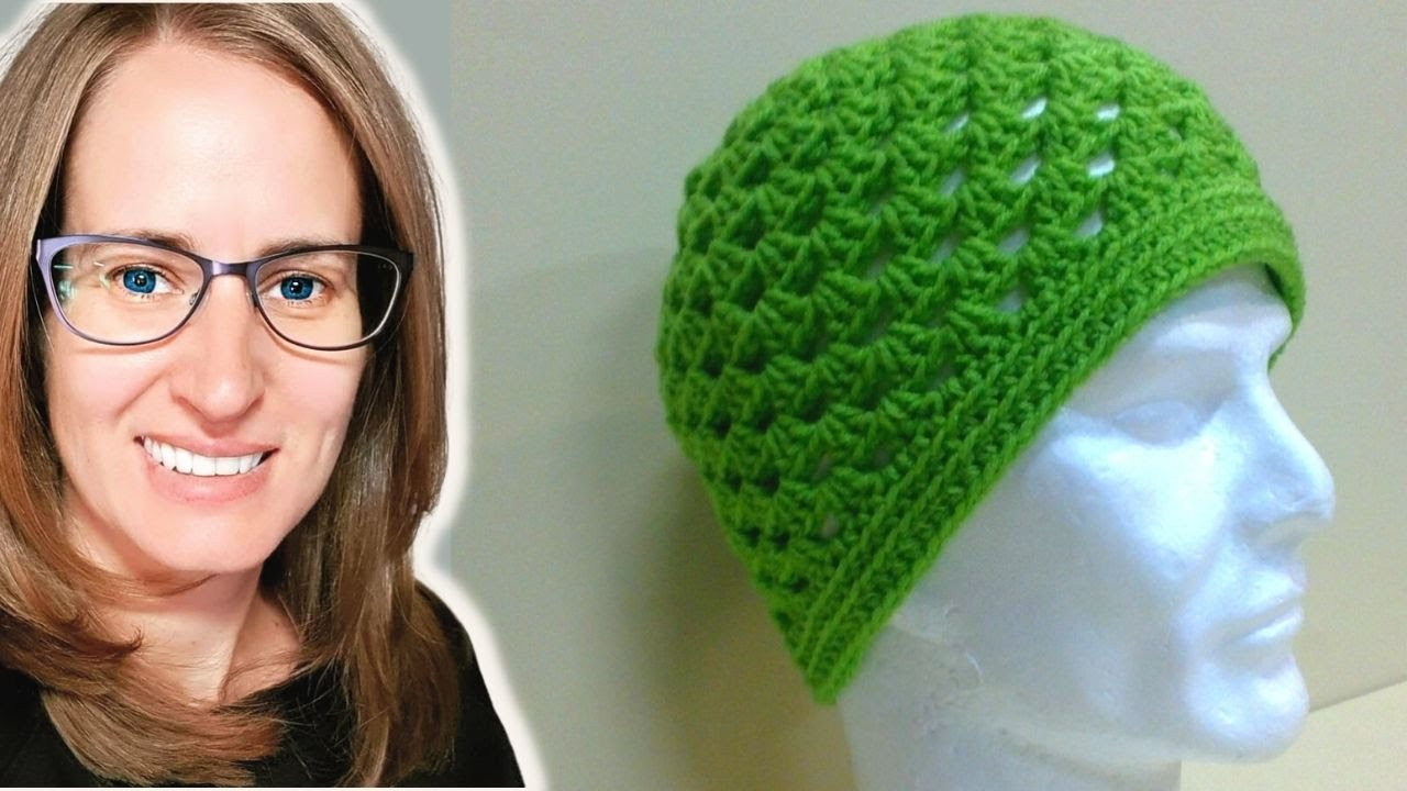 Free Crochet Pattern Square Hat : Granny Square Hat Crochet Tutorial - YouTube