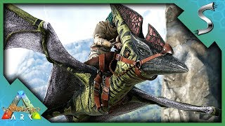 TAKING TO THE SKIES AND BUILDING A CRAZY BASE! - Ark: Valguero [DLC Gameplay E11]