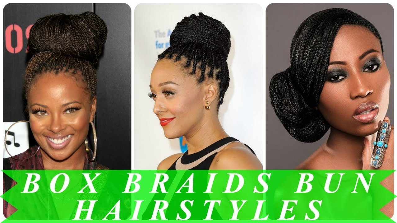 20 Best Ideas About Box Braids Bun Hairstyles For Black Women