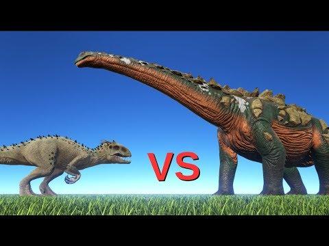Indominus Rex vs Titanosaur || ARK: Survival Evolved || Cantex