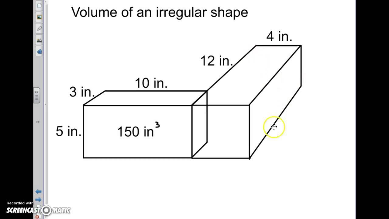 Volume of irregular shapes (5.MD.C.5c)