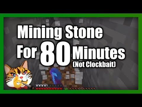 Just Mining Stone In Minecraft For 80 Minutes
