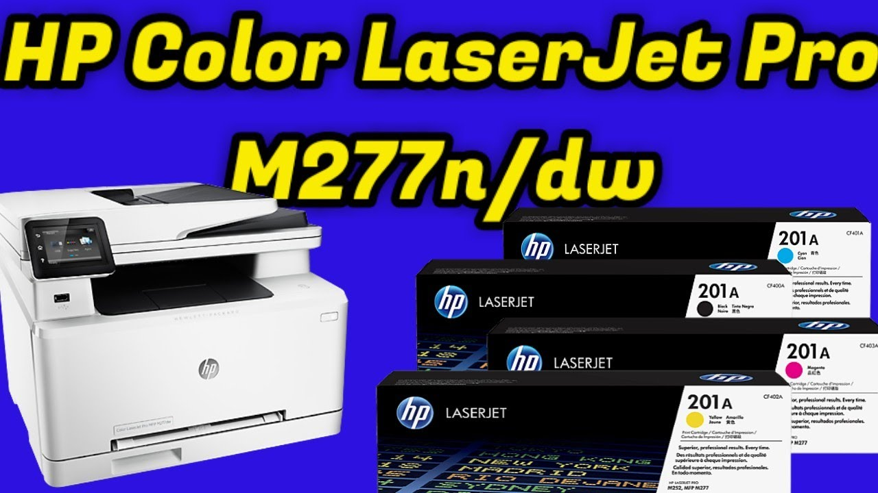 HP M277n,M277dw Color Laserjet Printer Full Specifications & Review - YouTube