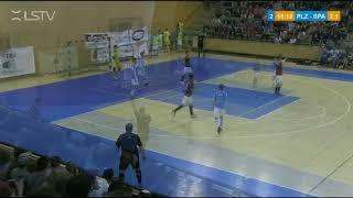 SESTŘIH 5. semifinále play off VARTA futsal ligy: Plzeň - Sparta 2:7