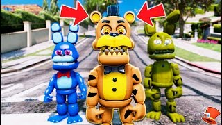 NEW ADVENTURE NIGHTMARE FREDDY ANIMATRONIC! (GTA 5 Mods For Kids FNAF RedHatter)
