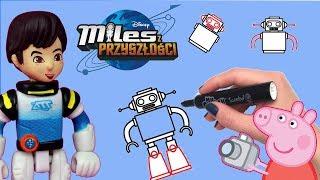 Świnka Peppa • Miles z przyszłości • Nauka rysowania • bajka po polsku