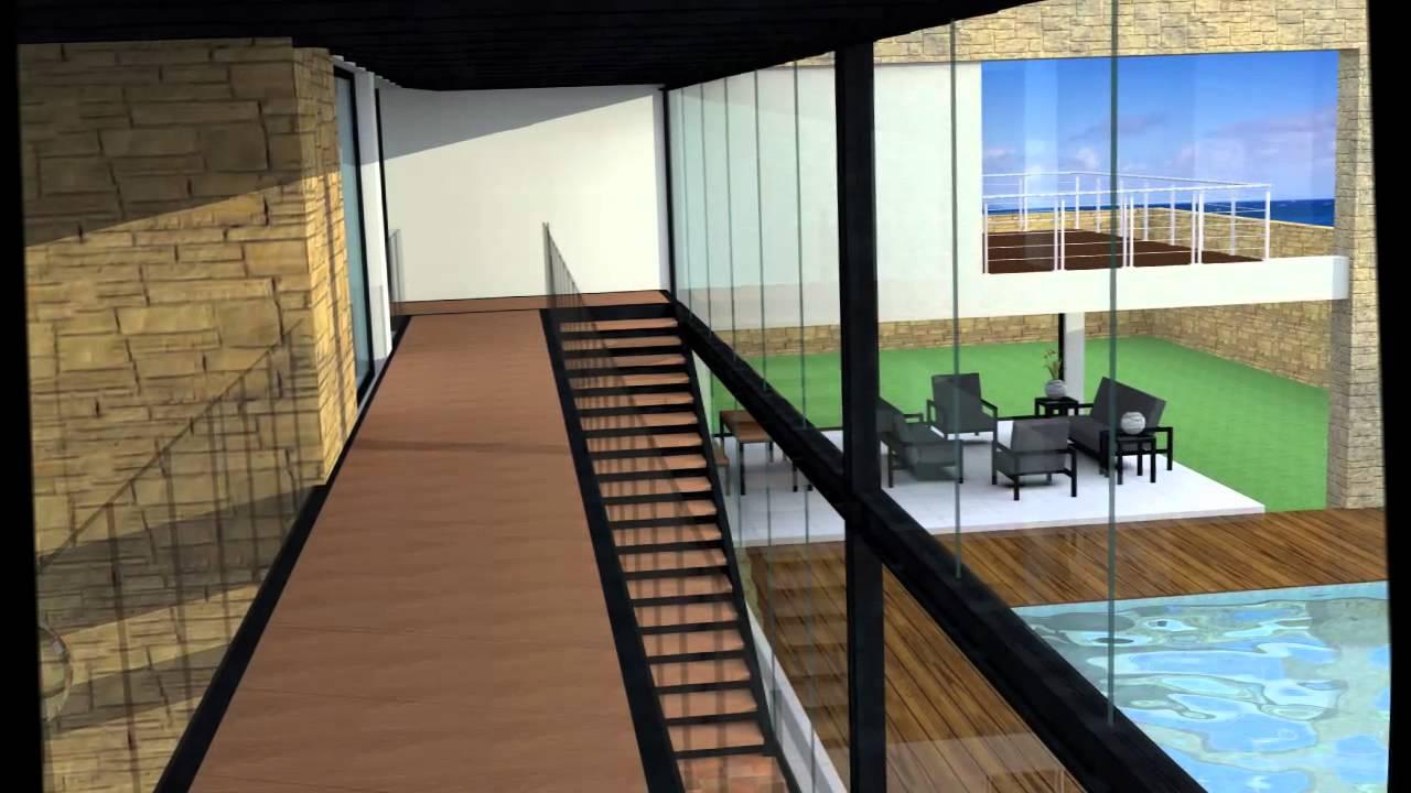 Casas modernas render en artlantis youtube for Casas modernas renders