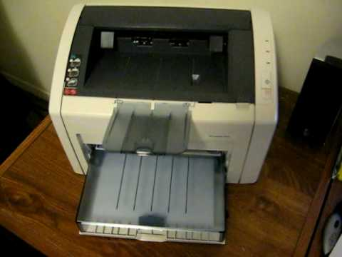 Hp Laserjet 1022n Printing Test Page Youtube