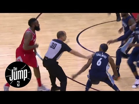 The Jump reacts to James Harden and Mario Chalmers scuffle | The Jump | ESPN