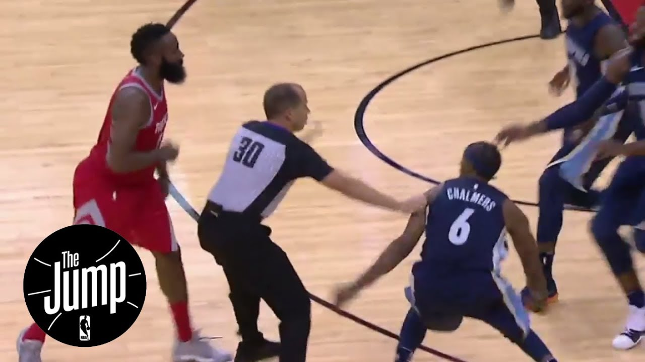 abf2e1fd97b0 The Jump reacts to James Harden and Mario Chalmers scuffle
