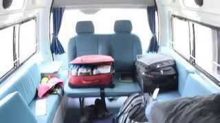 inside a Britz Hi-Top campervan- road trip Australia