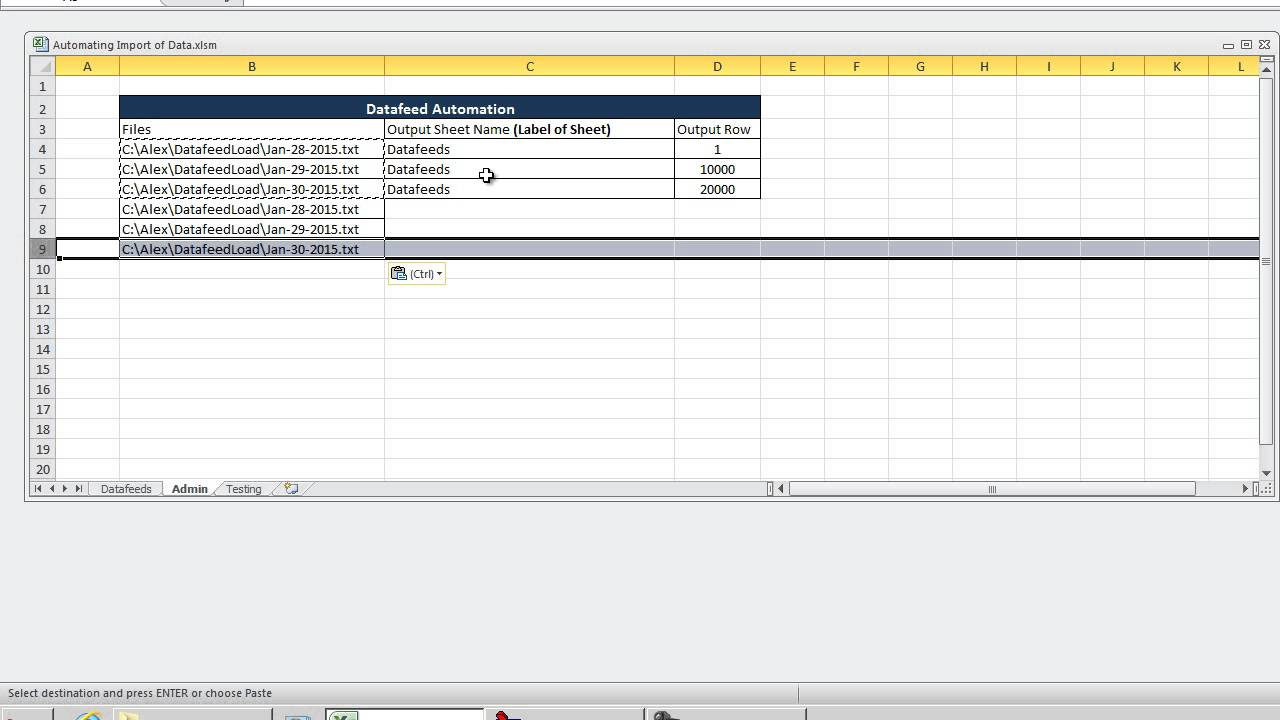 Automating Importing Multiple CSV Text Files - VBA Excel 2010