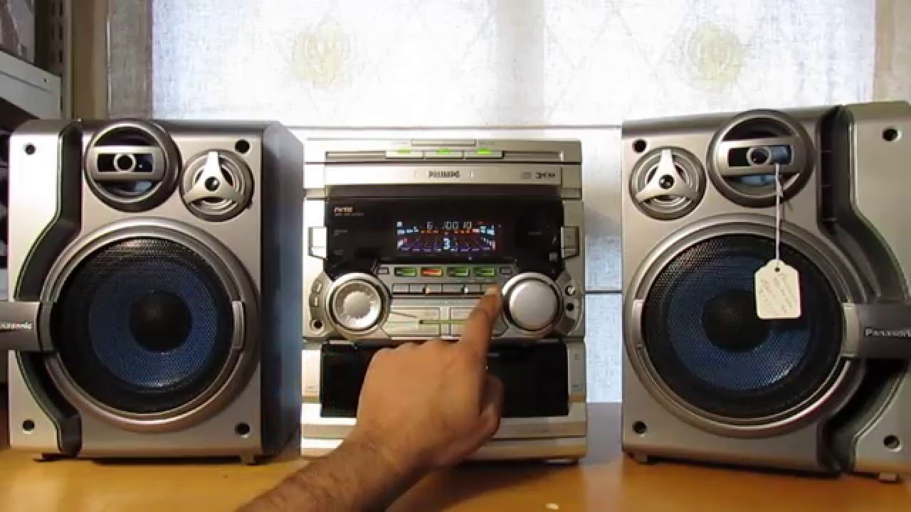 maxresdefault philips hifi stereo system 3 cd changer dual cassette tuner youtube  at crackthecode.co