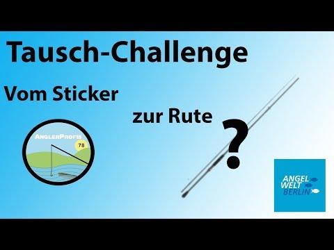 Tausch-Challenge: Vom Sticker zur Angelrute? || AngelWelt Berlin
