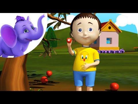 Two Little Apples - Nursery Rhyme with Karaoke