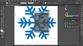 Snowflake. Tutorial Adobe Illustrator CC for beginners