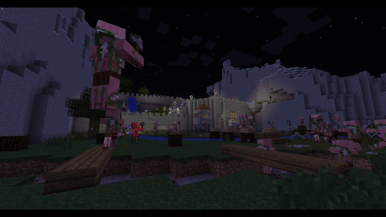 Minecraft Mineplex Castle Siege Minigame Win YouTube