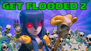 Clash Of Clans GET FLOODED 2 (Awesome Mass Witch Game-play)